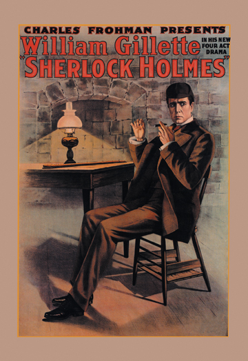 Sherlock Holmes Book Cover Art : Theater adaptation sherlock holmes posters and canvas