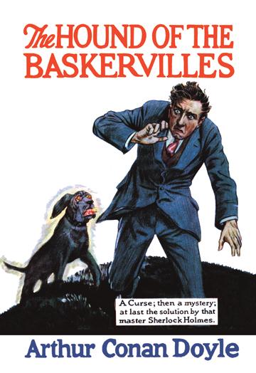 Book Cover Art Prints : The hound of baskervilles arthur conan doyle