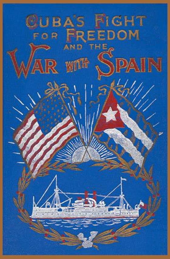 Book Cover Art Prints ~ Cuba fight for freedom and the war with spain posters