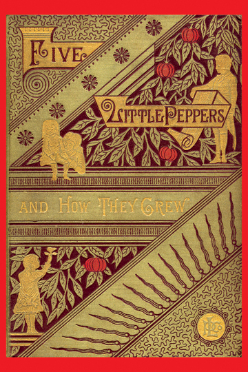 Classic Book Covers On Canvas : Five little peppers and how they grew margaret sidney