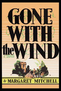 Book cover art print. Gone With The Wind