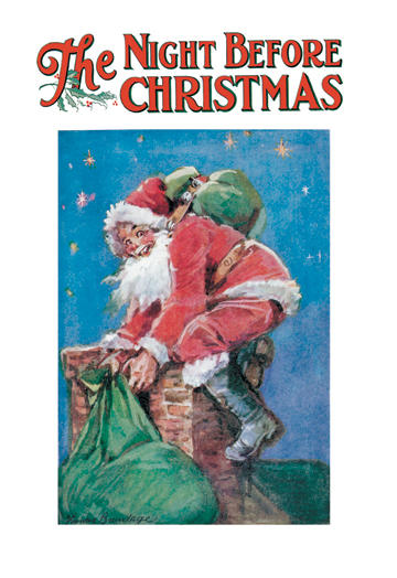 Vintage Book Cover Posters : The night before christmas posters and canvas art prints