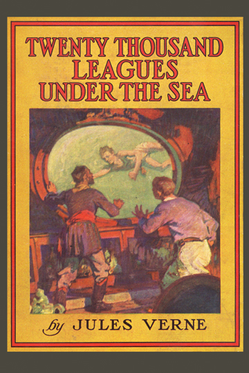 Book Cover Art Prints : Twenty thousand leagues under the sea by jules verne