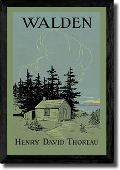 Walden Henry David Thoreau Art Print Canvas Wall Art