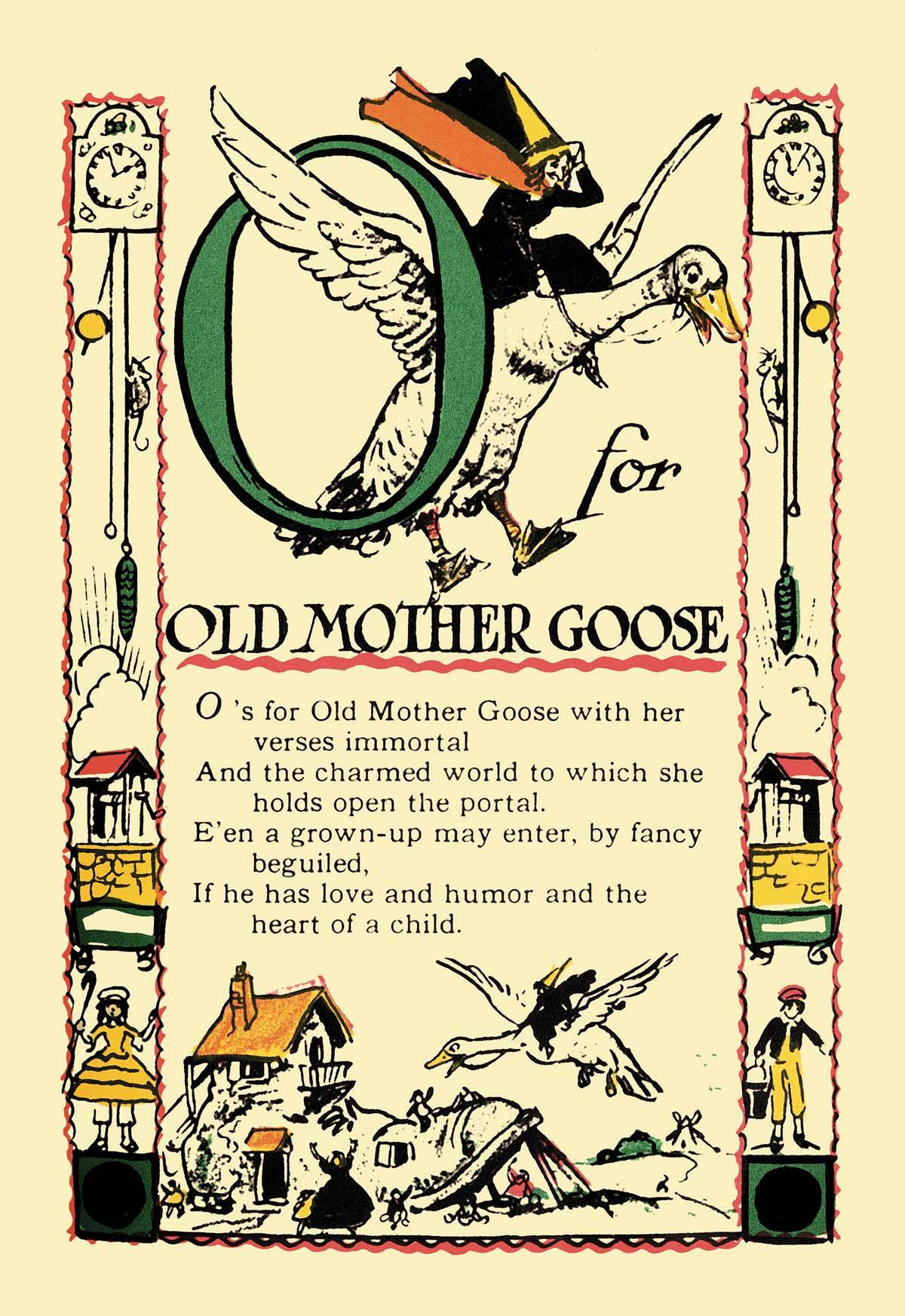 Vintage Children S Book Cover Prints : O for old mother goose posters and canvas art prints
