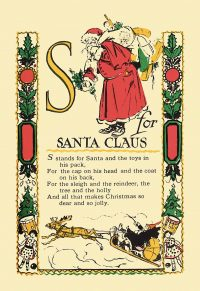 S is for Santa Claus poster