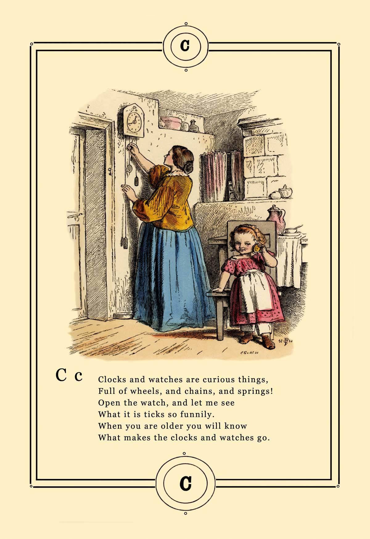 Book Cover Art Canvas ~ Little lily s alphabet clocks and watches posters