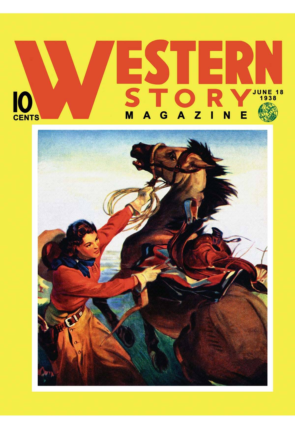Old Book Cover Posters : Western story magazine she ruled the west posters and