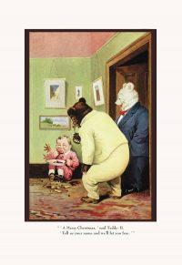 Teddy Roosevelt's Bear Merry Christmas Art print