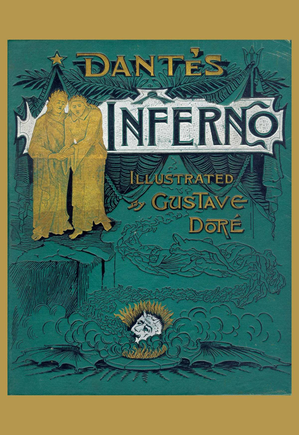 Old Book Cover Posters : Dante s inferno posters and canvas art prints vintage