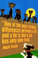 Cat and a Lie Art Print Mark Twain