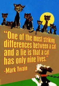 Cat and a Lie Art Print Mark Twain