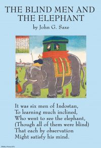 The blind man and the elephant illustrations