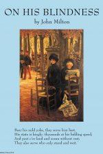 On His Blindness by John Milton Art Print