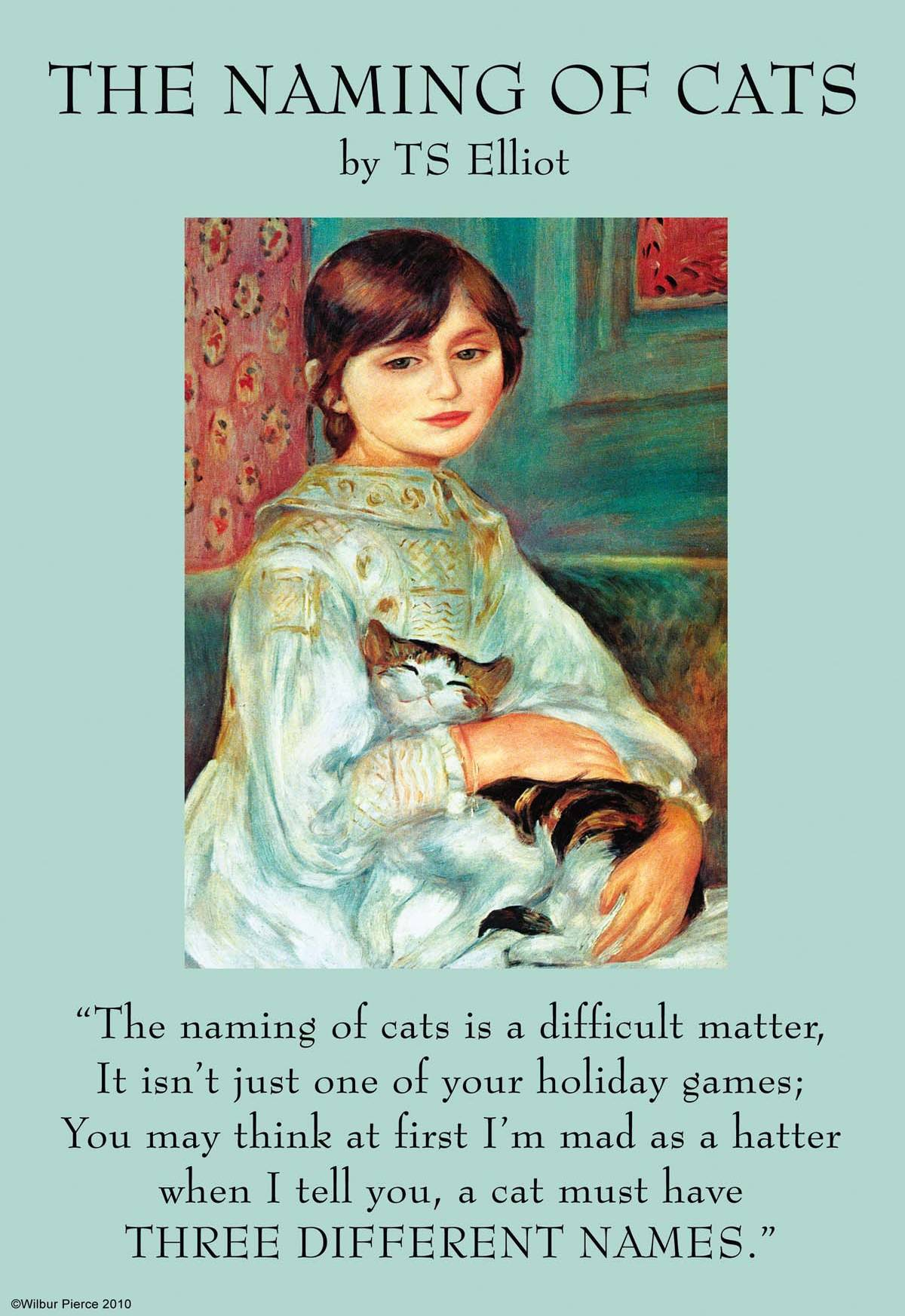 Vintage Book Cover Posters : The naming of cats posters and canvas art prints