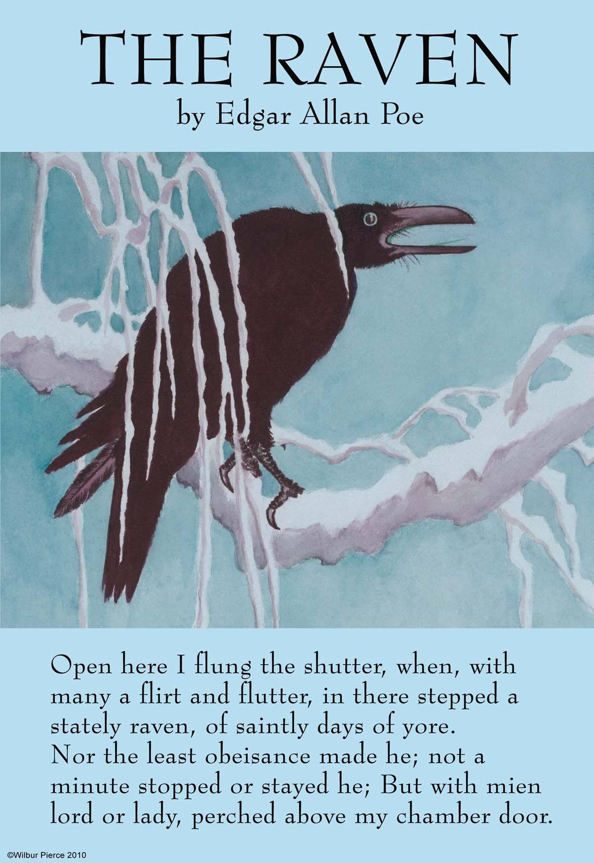 an analysis of the raven by Psychoanalysis on the poem the raven by edgar allen poe the raven can be looked at from many different perspectives, including what the raven in the poem symbolizes to poe, what made this poem deeply accredited for this author, or also what made poe decide to write this poem.