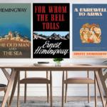 Hemingway Book Cover Canvas Art Print