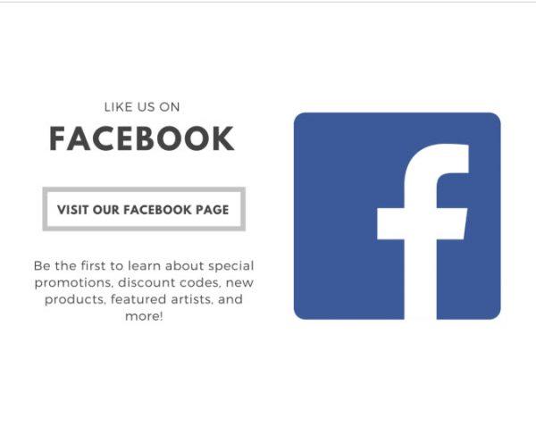 Facebook New Fan Like us