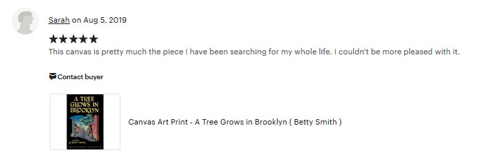 review_a_tree_grows_in_brooklyn_canvas_print