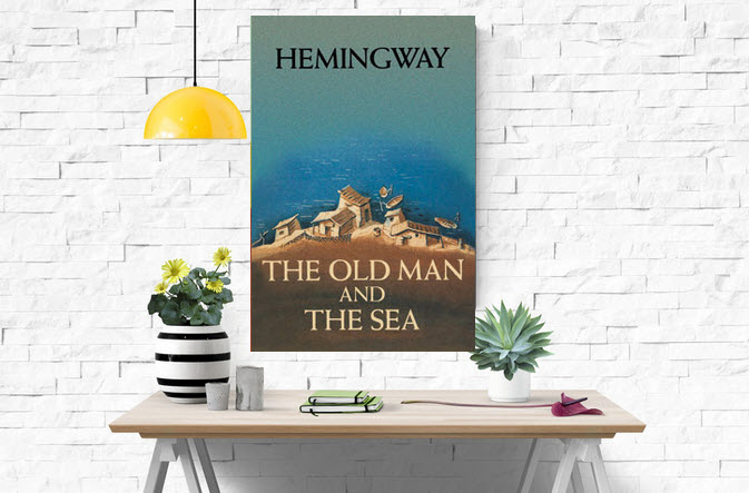 canvas print the old man and the sea